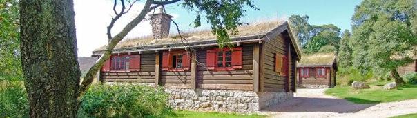 Side view of the fabulous Scandinavian lodge